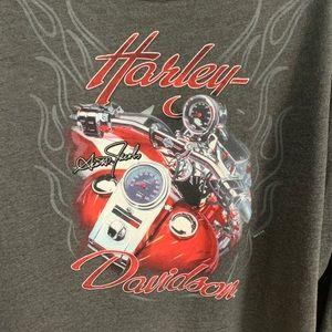 Harley 3/4 sleeve t shirt